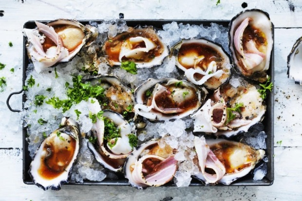 Adam Liaw's cold oysters kilpatrick <a ...