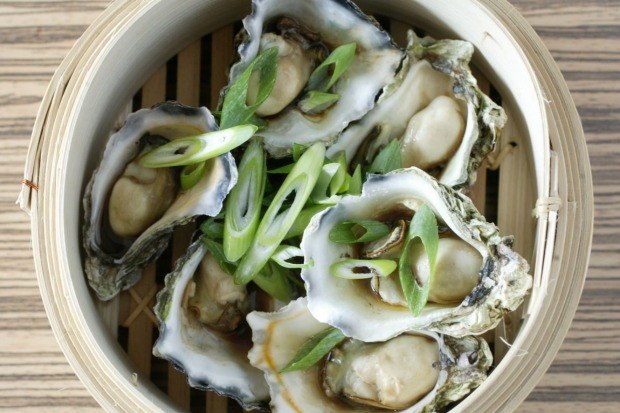 Steamed oysters with sesame and soy. <a ...