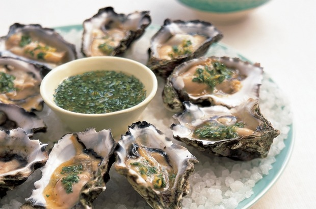 Oysters with ginger and lime. <a ...