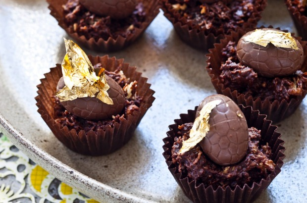 Hazelnut chocolate nests. Easter eggs are out in stores already! <a ...