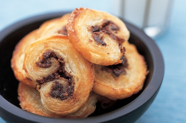 Palmiers with chocolate, hazelnut and orange filling. <a ...