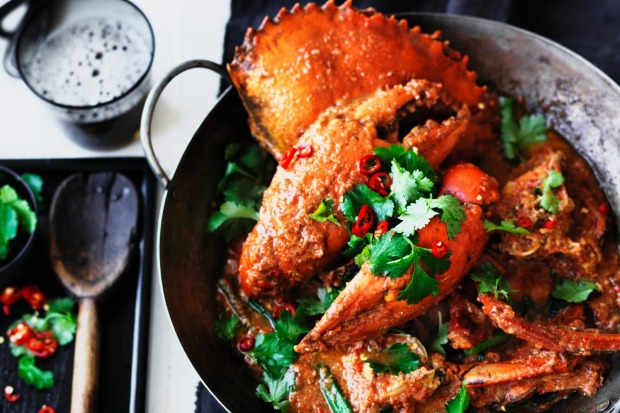 "Singapore chilli crab. <a href=""http://www.goodfood.com.au/recipes/singapore-chilli-crab-20150804-40h96""><b>(Recipe ..."