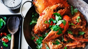 Adam Liaw's Singapore chilli crab.