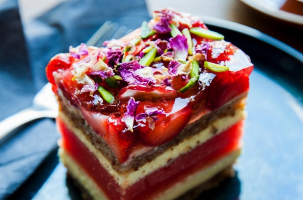 Black Star Pastry's signature strawberry watermelon cake.