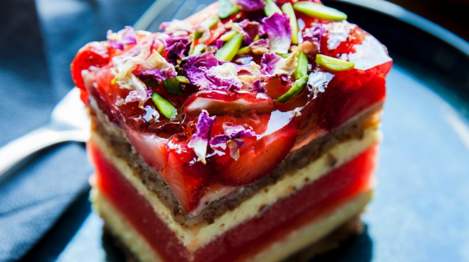 Cracking sugar-fuelled creations: Strawberry watermelon cake from Black Star Pastry.