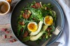Breakfast salad with beans, avo and poachies. <a ...