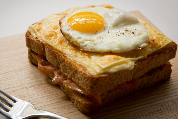 Frank Camorra's croque madame swaps ham for smoked salmon <a ...