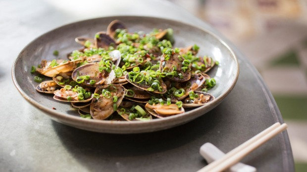 Go-to dish: Pipis doused in a garlicky black bean sauce.