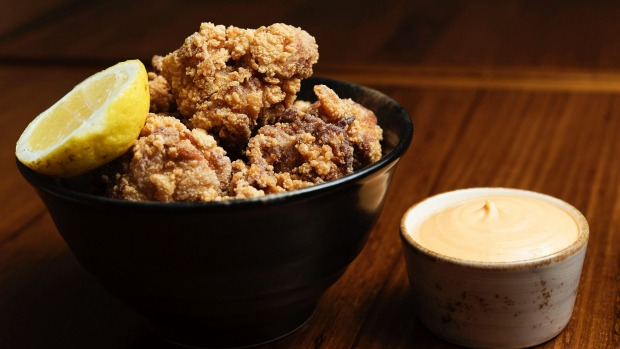 Karaage chicken and chilli mayo.