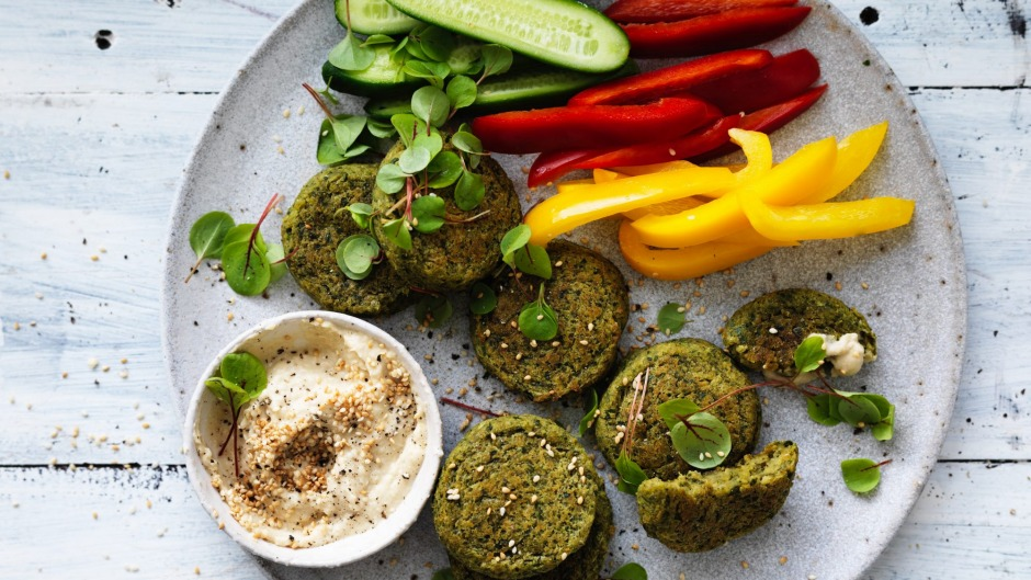 falafel and vegies with hummus recipe good food