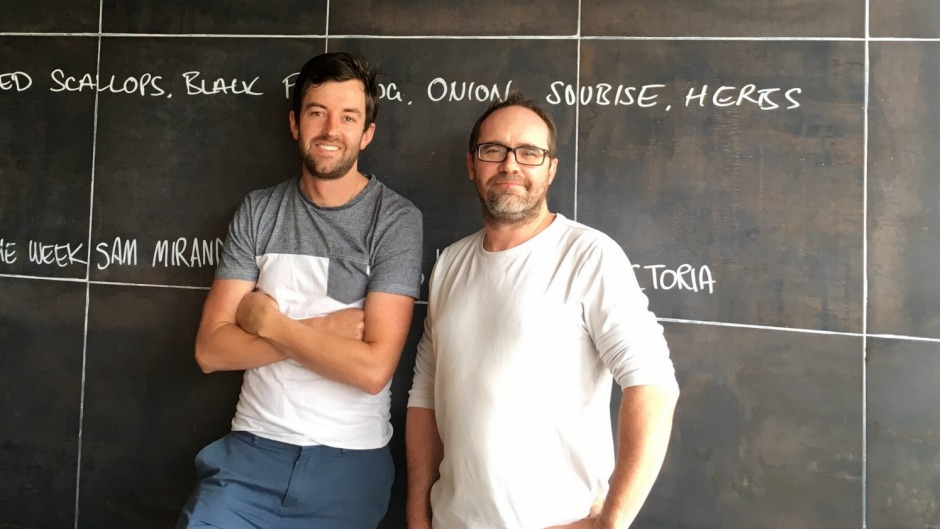 Current Pulp Kitchen owners Nathan Brown and Dan Giordani at the Ainslie restaurant.