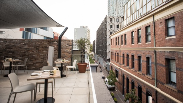 Olio has a rooftop terrace.