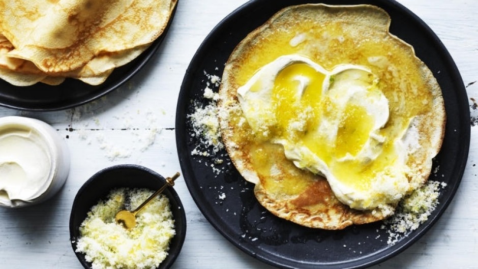 Adam Liaw gives classic lemon and sugar crepes an update.