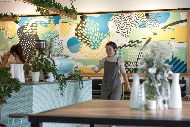 Humble Rays is a pastel and plant-strung student hang-out in Carlton.
