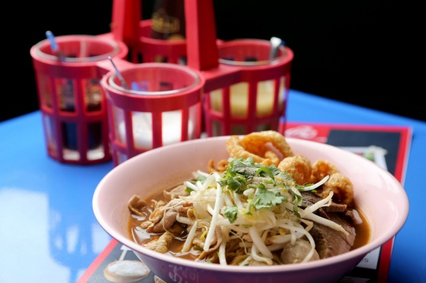 Thai beef boat noodles at Soi 38.