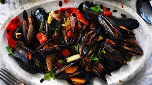 Kylie Kwong's stir-fried mussels.