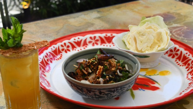 Chiang Mai chicken larb.