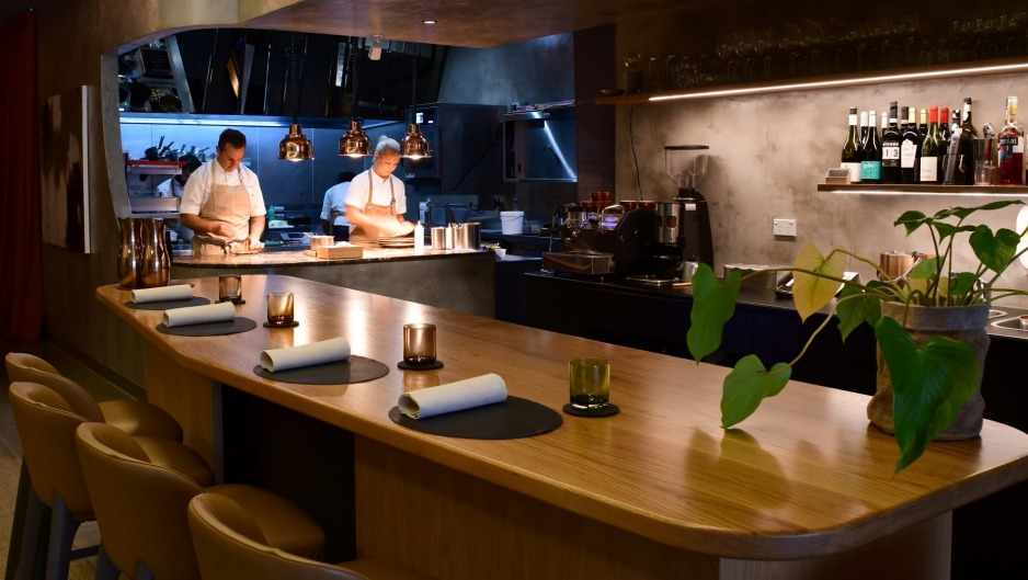 Owner-chef Clinton McIver (left) on the pans at Amaru in Armadale.