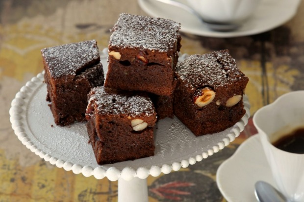 Chocolate, coffee and hazelnut brownies <a ...