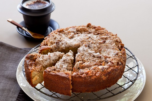 "Coffee crumble cake. <a href=""http://www.goodfood.com.au/recipes/coffee-crumble-cake-20111018-29uj2""><b>(Recipe ..."