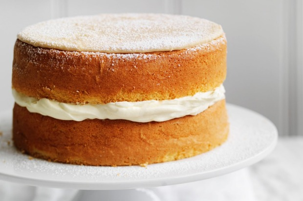 A simple coffee and cream sponge cake that won't last long before it's eaten. <a ...