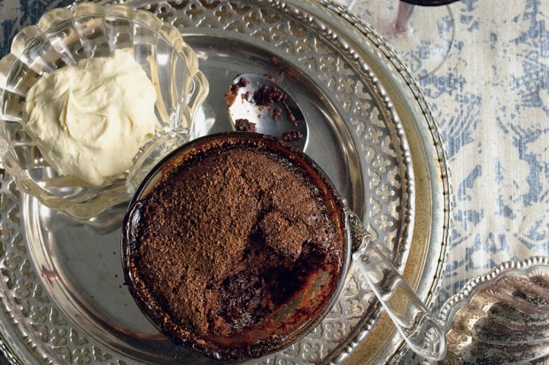 Self-saucing coffee and chocolate puddings. <a ...