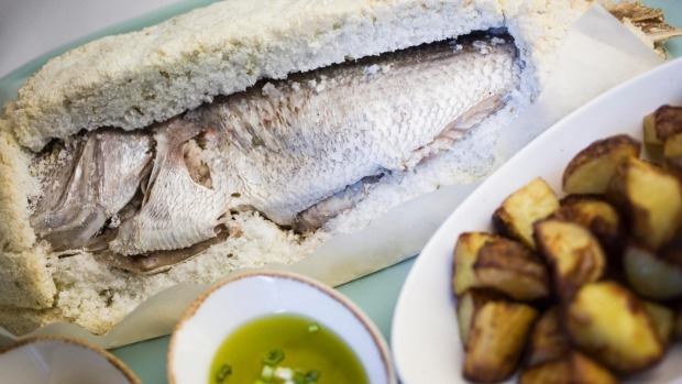Go-to dish: Salt-baked snapper with roast potatoes.