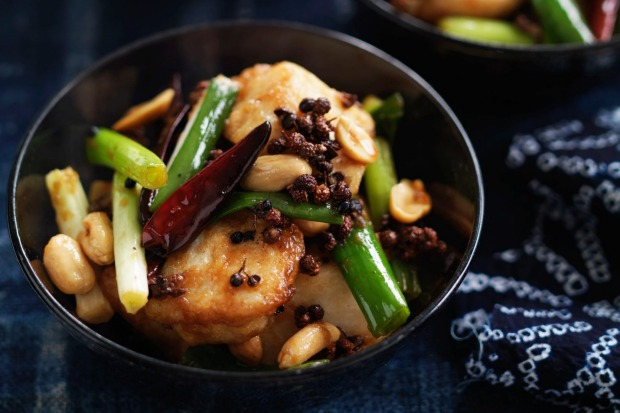 Neil Perry's stir-fried fish with peanuts and Sichuan peppercorns <a ...