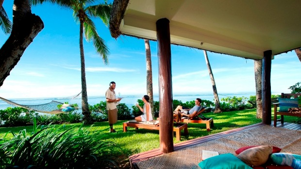 Luxe accommodation at the Outrigger Resort Fiji.