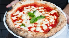 The pizza at Rosso Antico on Enmore Road, Newtown