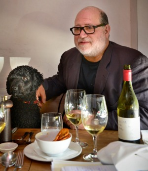 Ronnie Di Stasio (pictured with dog Roscoe) has returned to Melbourne's CBD.
