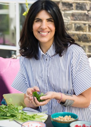 Anjum Anand and her family follow a vegetarian diet at home.