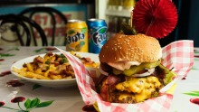 Almost certainly too much... The Nevada Get Me Wong burger at Sydney's Miss America's.