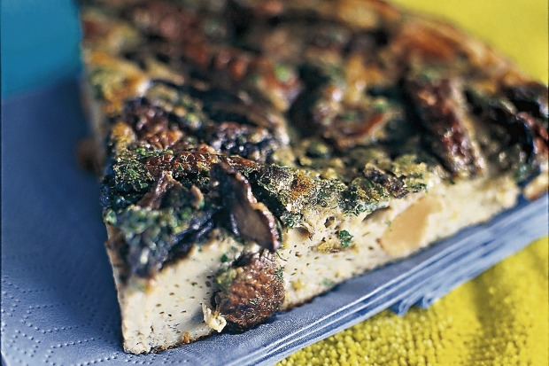 "Mushroom and herb frittata. <a href=""http://www.goodfood.com.au/recipes/mushroom-frittata-20140107-30ez6""><b>(Recipe ..."