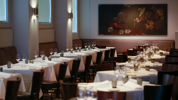 The Ezard basement dining room before its recent renovation.