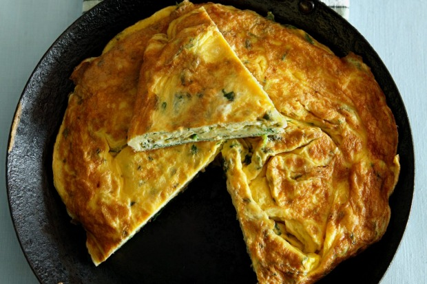 Spring herb and rocket frittata. <a ...