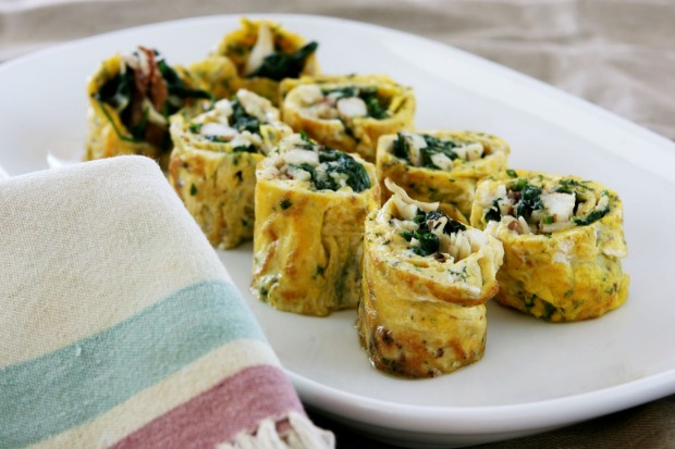 Crab and spinach frittata rolls. <a ...