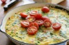 Potato, pea and bacon frittata. <a ...