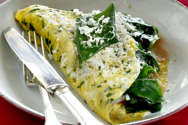 Frittatina with warrigal greens. <a ...