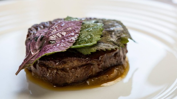 Refined: grilled Sher wagyu.