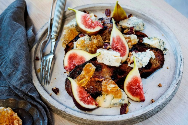 Sometimes simple is best: figs, blue cheese, honeycomb and pecans.<a ...