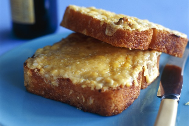 Cheesey melt with dijon mustard. <a ...