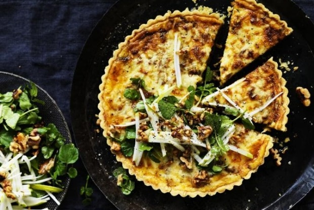 This cheddar and onion savoury tart is the ultimate crowd pleaser. <a ...