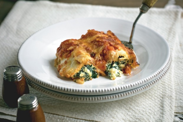 Spinach and ricotta cannelloni. <a ...