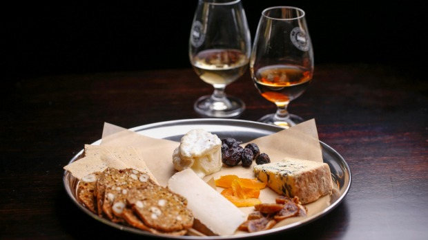 European-style bar snacks at the Melbourne Whisky Room.