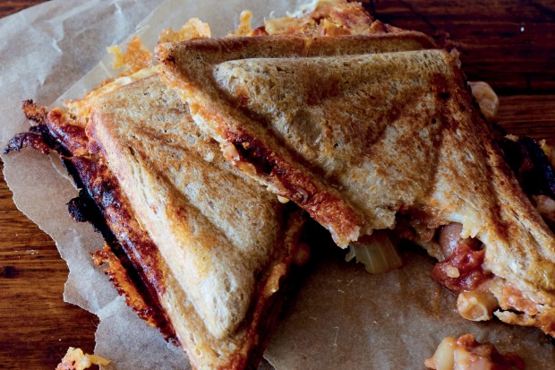 Boston-style baked beans and cheddar jaffle from 'In Bread: 70 Brilliant Sandwich Recipes' <a ...