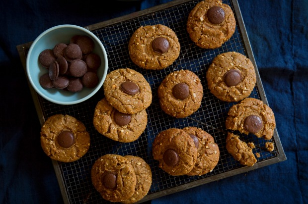 Peanut butter and chocolate cookies. <a ...