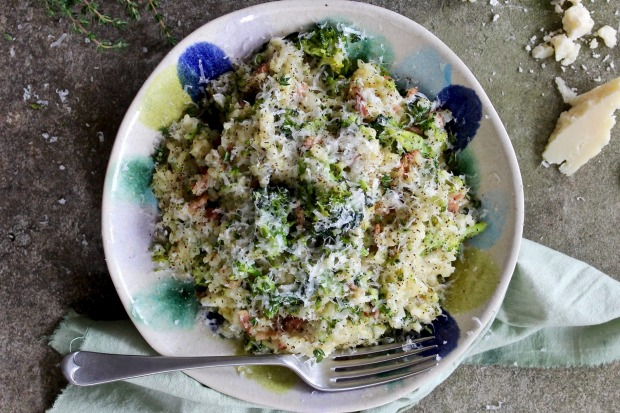 Bacon, parmesan and broccoli risotto. <a ...