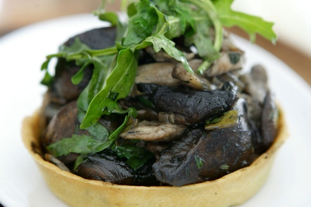 "Chicken and mushroom tart. <a href=""http://www.goodfood.com.au/recipes/mushroom-tarts-20111018-29ws8""><b>(Recipe ..."