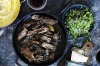 Slow-cooked beef brisket with mushrooms. <a ...